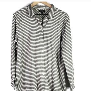 AYR All Year Round Button Up Tunic Shirt